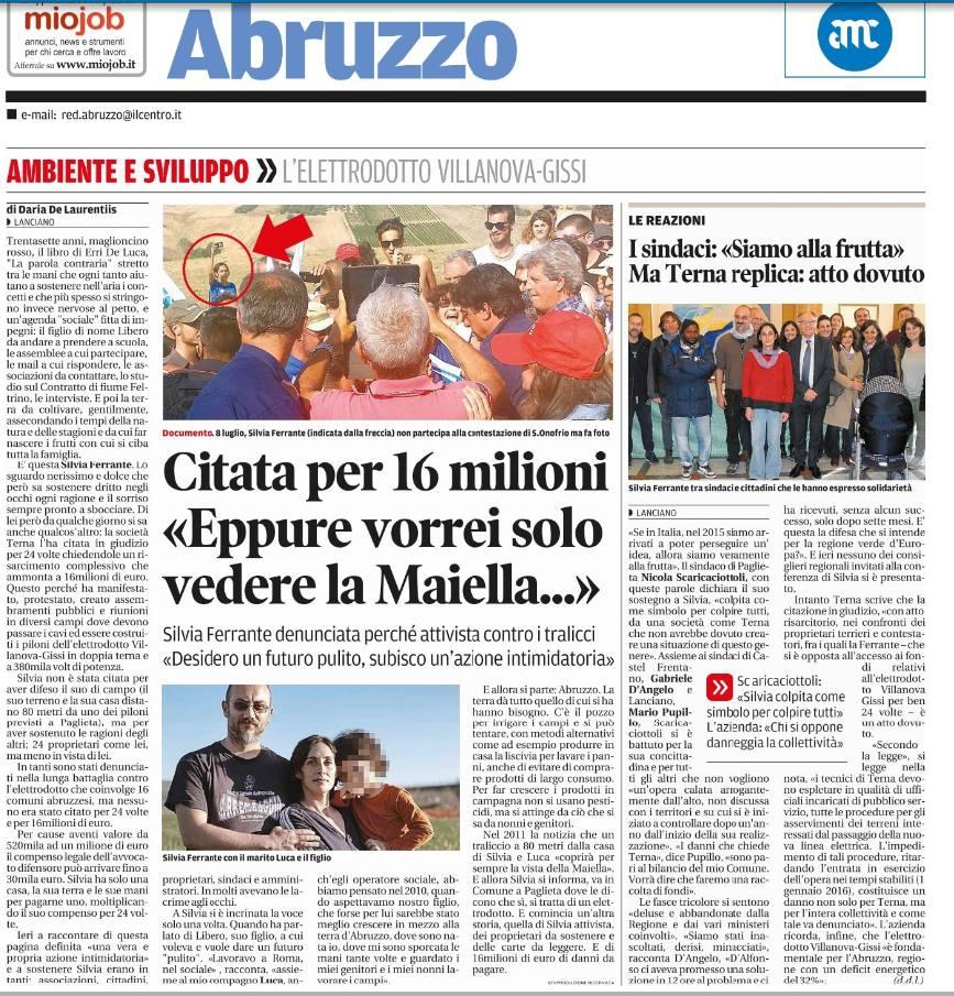Pagina de IlCentro - Quotidiano d'Abruzzo