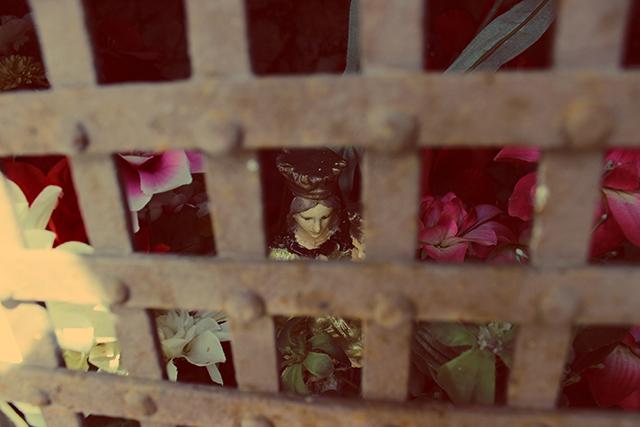 La Madonna del Carmine di Baullo nella sua edicola votiva. Foto di Antonella Palombizio
