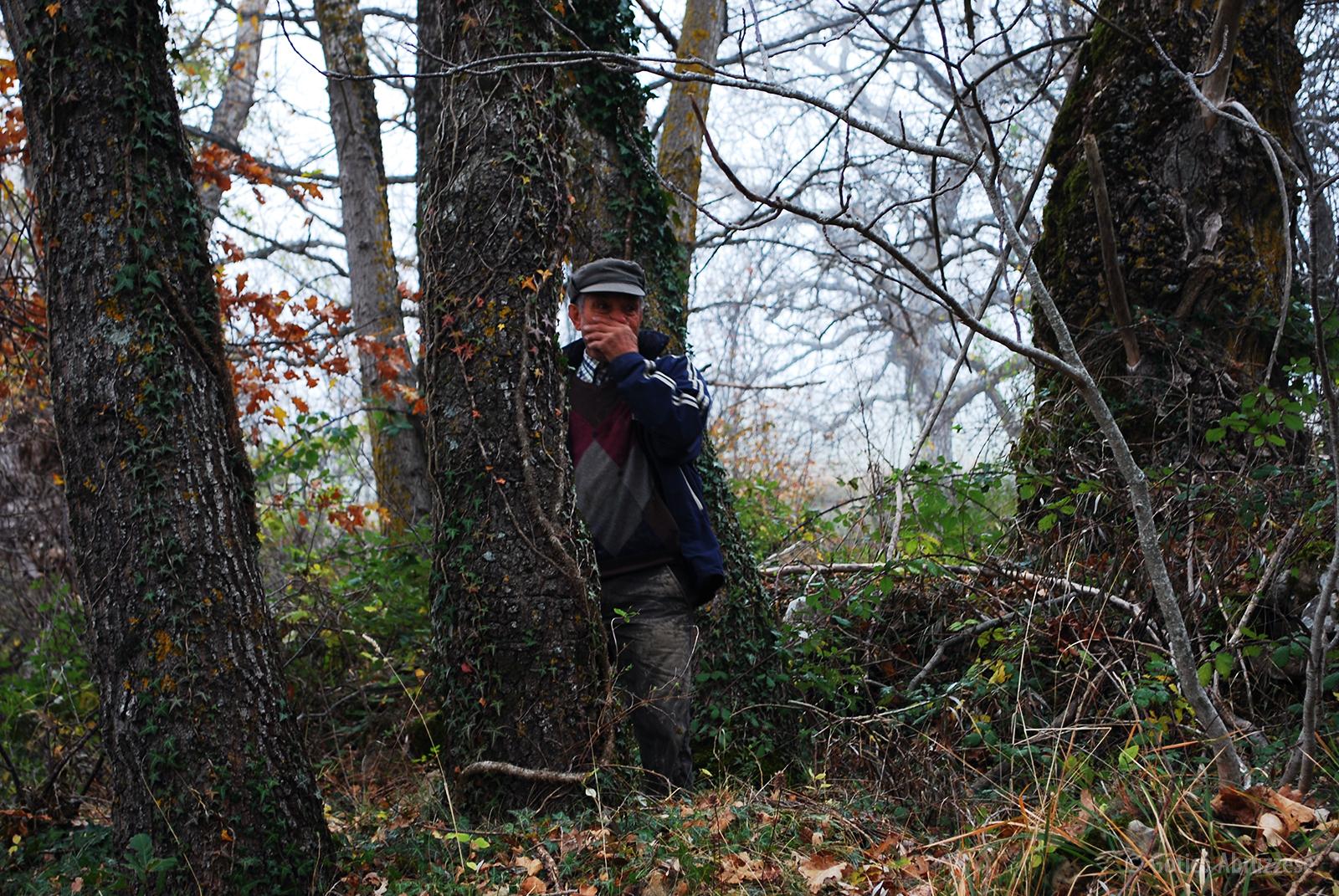 Fausto nel bosco dei Limmari.